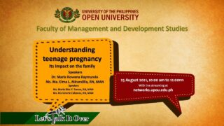 Let's Talk It Over - Understanding Teenage Pregnancy: Its Impact to the Family