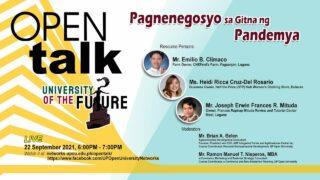 OPEN Talk - Pagnenegosyo sa Gitna ng Pandemya