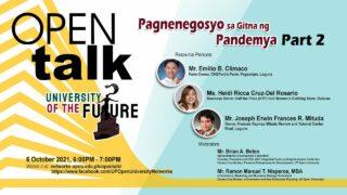 OPEN Talk: Pagnenegosyo sa Gitna ng Pandemya Part 2