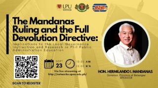 The Mandanas Ruling and the Full Devolution Directive: Implications to the Local Governance Instruction and Research in Philippine Public Administration Education